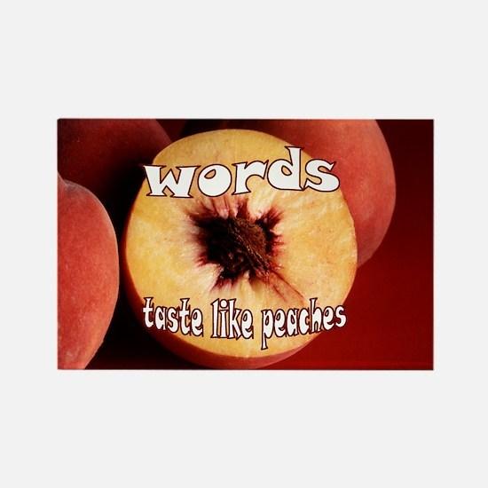 Chuck - Words taste like peaches Rectangle Magnet