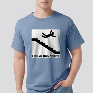 Strairs, I Do All My Own Stunts Ash Grey T-Shirt
