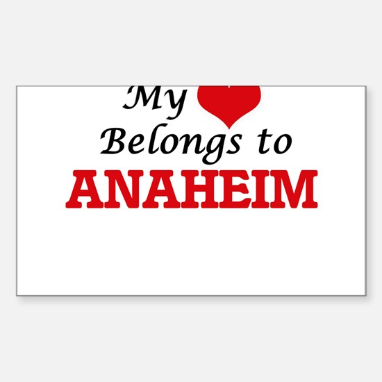 My heart belongs to Anaheim California Decal
