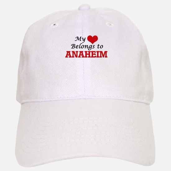My heart belongs to Anaheim California Baseball Baseball Cap
