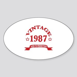 Vintage 1987 Aged To Perfection Sticker (Oval)