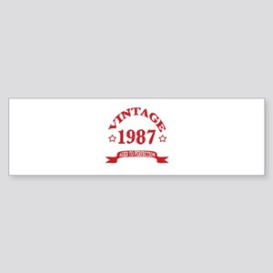 Vintage 1987 Aged To Perfection Sticker (Bumper)
