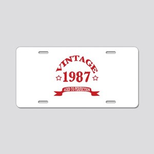Vintage 1987 Aged To Perfec Aluminum License Plate