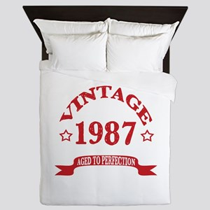 Vintage 1987 Aged To Perfection Queen Duvet