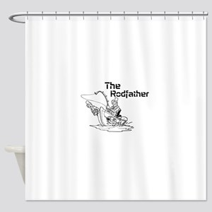 The Rodfather Shower Curtain