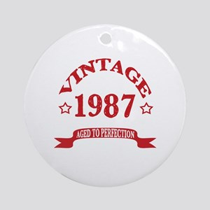 Vintage 1987 Aged To Perfection Round Ornament