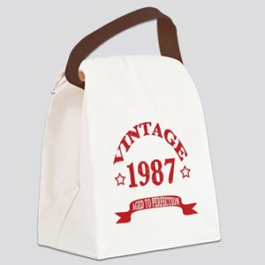 Vintage 1987 Aged To Perfection Canvas Lunch Bag