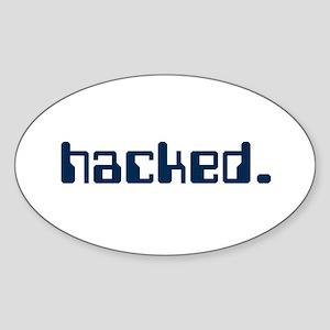 Hacked Oval Sticker