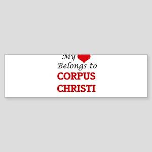 Corpus christi bumper stickers cafepress my heart belongs to corpus christi bumper sticker colourmoves