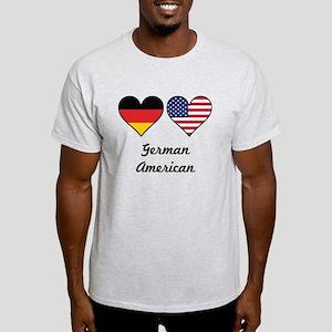 German American Flag Hearts T-Shirt