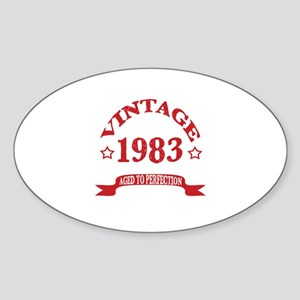 Vintage 1983 Aged To Perfection Sticker (Oval)