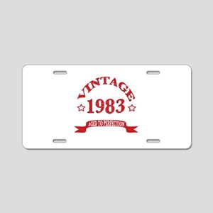 Vintage 1983 Aged To Perfec Aluminum License Plate