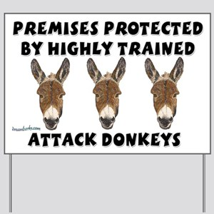 Attack Donkeys Yard Sign
