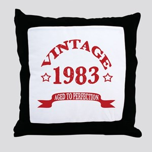 Vintage 1983 Aged To Perfection Throw Pillow