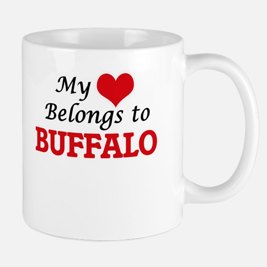 My heart belongs to Buffalo New York Mugs