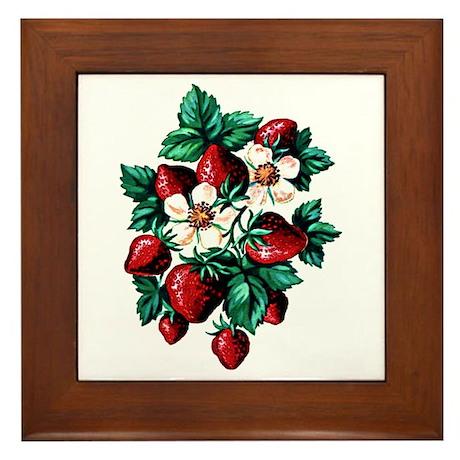 Strawberry Fields - Framed Tile