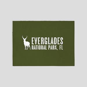 Deer: Everglades, Florida 5'x7'Area Rug