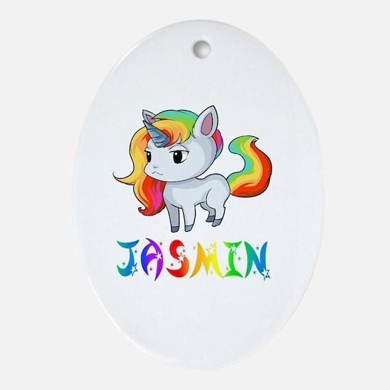 Cute Jasmin Oval Ornament