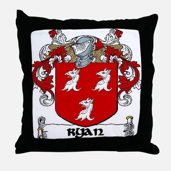 Ryan Coat of Arms Throw Pillow