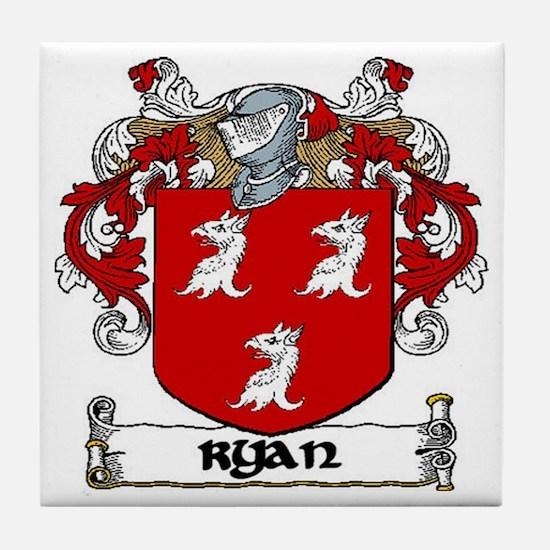 Ryan Coat of Arms Ceramic Tile