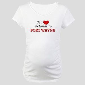 My heart belongs to Fort Wayne I Maternity T-Shirt