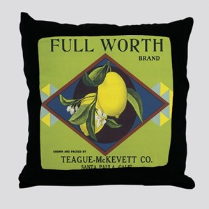 Full Worth Lemons Vintage Lab Throw Pillow