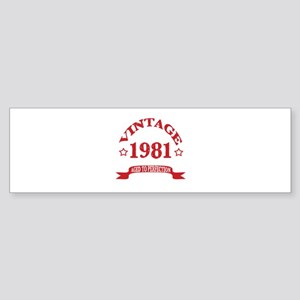 Vintage 1981 Aged To Perfection Sticker (Bumper)