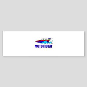 Motor Boat Bumper Sticker