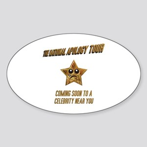 The National Apology Tour Oval Sticker