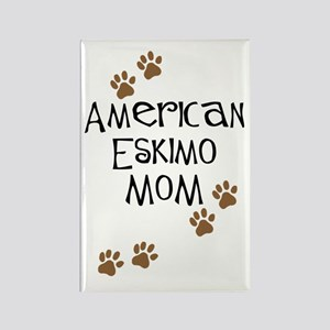 American Eskimo Mom Rectangle Magnet
