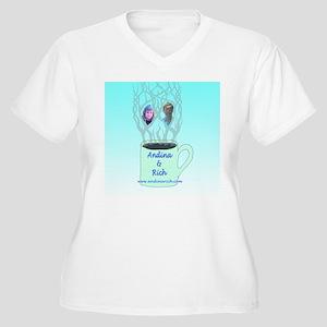 Andina & Rich Women's Plus Size V-Neck T-Shirt