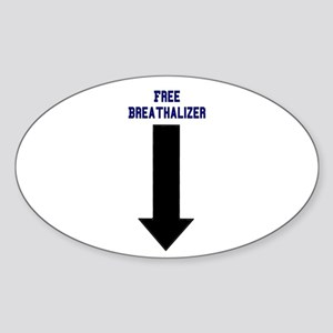 Free Breathalizer Oval Sticker