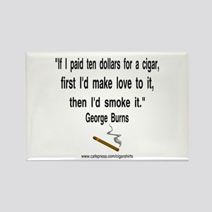 George Burns Cigar Quote 2 Rectangle Magnet