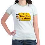 Girlfriend fucks like a champ Jr. Ringer T-shirt