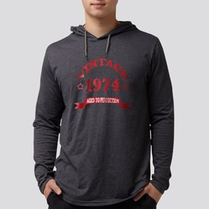 Vintage 1974 Aged To Perfection Mens Hooded Shirt