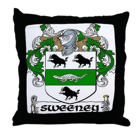 Sweeney Coat of Arms Throw Pillow