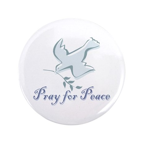 """Pray for Peace 3.5"""" Button (100 pack)"""