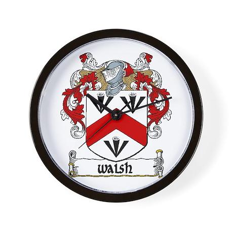 Walsh Coat of Arms Wall Clock