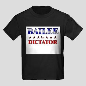 BAILEE for dictator Kids Dark T-Shirt