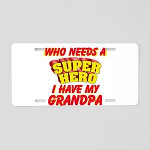 SUPER HERO PERSONALIZE Aluminum License Plate
