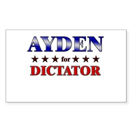 AYDEN for dictator Rectangle Sticker