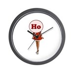 Christmas Ho Wall Clock