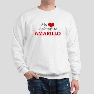 My heart belongs to Amarillo Texas Sweatshirt