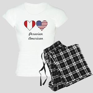 Peruvian American Flag Hearts Pajamas