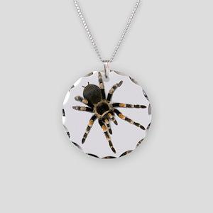 Tarantula Spider Necklace Circle Charm