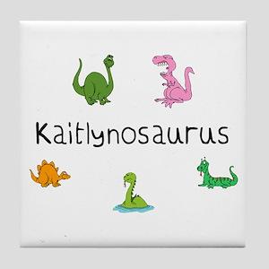 Kaitlynosaurus Tile Coaster