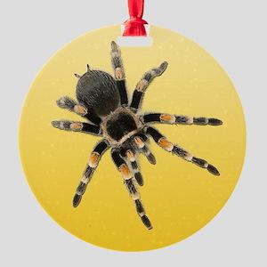 Tarantula Spider Yellow Round Ornament