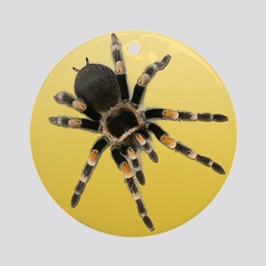 Tarantula Spider Yellow Round Ornament