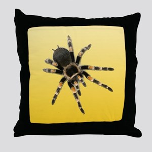 Tarantula Spider Yellow Throw Pillow
