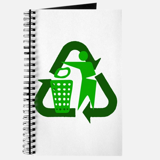 Recycle Person Journal